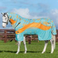 Horseware Amigo 3-in-1 Evolution Vamoose Fly Rug Aqua/Orange/Aqua