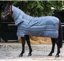 Horseware Amigo All-In-One Insulator 350g Heavyweight Combo Stable Rug Grey/Purple/Yellow