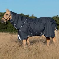 Horseware Amigo Bravo 12 Plus 400g Heavyweight Detach-A-Neck Turnout Rug Navy/Blue 2017