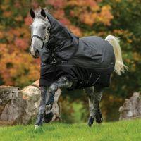 Horseware Amigo Bravo 12 Reflectech Plus 250g Medium Weight Detach-A-Neck Turnout Rug Black/Reflective