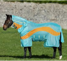 Horseware Amigo Evolution Fly Rug Aqua/Orange/Aqua