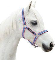 Horseware Amigo Headcollar Grape/Pink/White/Powder Blue