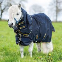 Horseware Amigo Hero 6 Petite Plus 0g Lite Weight Detach-A-Neck Turnout Rug Navy/Gold