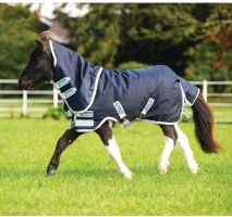 Horseware Amigo Hero 6 Petite Plus Medium Weight Turnout Rug Navy/Silver