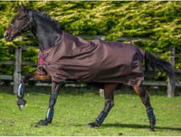Horseware Amigo Hero Acy 50g Lite Weight Standard Neck Turnout Rug Choc/Choc/Raspberry