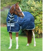 Horseware Amigo Insulator Plus 200g Medium Weight Detach-A-Neck Stable Rug Navy/Silver