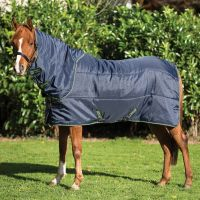 Horseware Amigo Insulator Pony Plus 200g Medium Weight Detach-A-Neck Rug Navy/Navy/Green