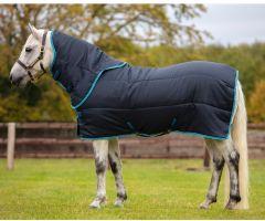 Horseware Amigo Insulator Pony Plus 200g Medium Weight Detach-A-Neck Stable Rug Navy/Electric Blue