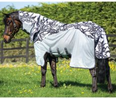 Horseware Amigo Three-In-One Vamoose Fly Rug Silver/Black