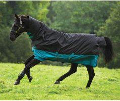 Horseware Mio All-In-One 200g Medium Weight Combo Neck Turnout Rug Turquoise/Black