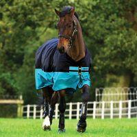 Horseware Mio Lite Standard Turnout Rug Black/Turquoise