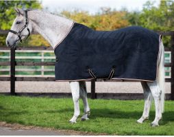 Horseware Rambo Deluxe Fleece Black/Tan/Orange/Black