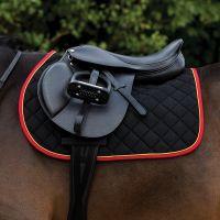 Horseware Rambo Everyday Show Jumping Saddle Pad Black Red Gold