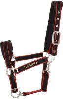 Horseware Rambo Padded Headcollar Black with Tan/Orange/Black