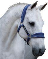 Horseware Rambo Padded Headcollar Royal Blue/Silver Black
