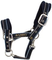 Horseware Rambo Padded Headcollar Whitney Stripe Navy