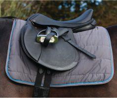 Horseware Rambo Reversible Saddle Pad Charcoal/Blue