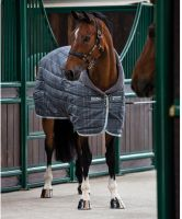 Horseware Rhino Original 450g Heavy Weight Standard Neck Stable Rug Charcoal Grey/White Check/Grey