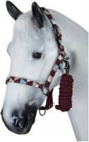 Horze Halter and Leadrope Set Port Royal/Delphinium Blue