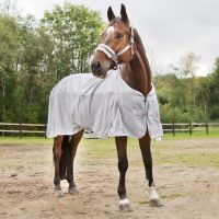 Horze Nevada Summer Rain Sheet 0g Lite Weight Standard Neck Turnout Rug Lunar Rock