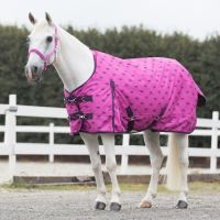 Horze Pony Winter Rain Blanket 200g Medium Weight Standard Neck Turnout Rug Byzantine Pink