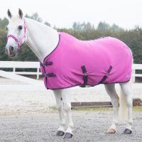 Horze Standard Neck Pony Fleece Rug Byzantine Pink