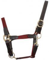 Kincade Leather Web Headcollar Burgundy/Brown