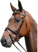 Kincade Padded Headpiece Flash Bridle Brown