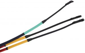 Kincade Rainbow Reins With Hook Studs Black
