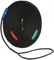 Kincade Two Tone Lunge Rein With Circles Markers Black/Grey