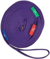 Kincade Two Tone Lunge Rein With Circles Markers Purple/Black