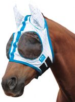 Kool Coat Lite Fly Mask White/Blue
