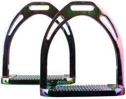 Korsteel Aluminium Stirrups Rainbow