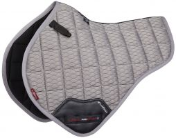 LeMieux Carbon Mesh Close Contact Half Square Saddle Pad Grey