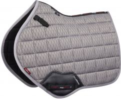 LeMieux Carbon Mesh Close Contact Square Saddle Pad Grey