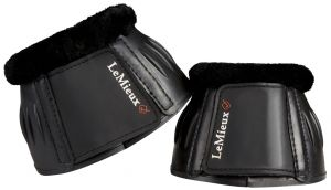LeMieux Fleece Rubber Bell Boots Black