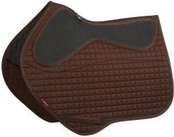 LeMieux LeGrip Close Contact Square Saddle Pad Brown