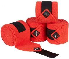 LeMieux Luxury Polo Bandages Coral Red