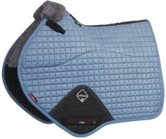 LeMieux Merino+ Half Lined Close Contact Square Saddle Pad Ice Blue/Grey