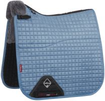 LeMieux Merino+ Half Lined Dressage Square Saddle Pad Ice Blue/Grey