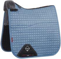 LeMieux Merino+ Half Lined Dressage Square Saddle Pad Ice Blue/Grey
