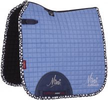 LeMieux Mini Suede Dressage Square Saddle Pad Corn Blue/Navy