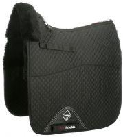 LeMieux ProLambskin Half Lined Dressage Square Saddle Pad Black/Black