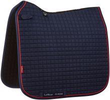 LeMieux ProSport Classic Dressage Square Saddle Pad Navy/Red
