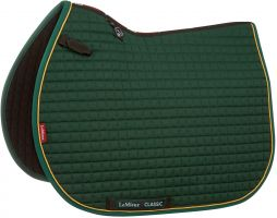 LeMieux ProSport Classic Jump Square Saddle Pad Green/Gold