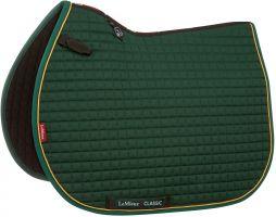 LeMieux ProSport Classic Jump Square Saddle Pad Green/Gold