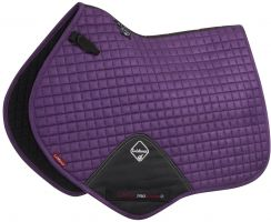 LeMieux ProSport Suede Close Contact Square Saddle Pad Blackcurrent