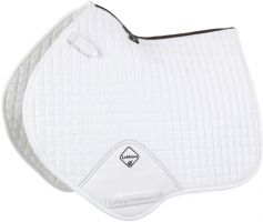 LeMieux ProSport Suede Close Contact Square Saddle Pad White