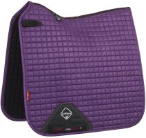 LeMieux ProSport Suede Dressage Square Saddle Pad Blackcurrent