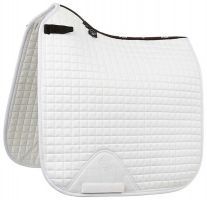 LeMieux ProSport Suede Dressage Square Saddle Pad White